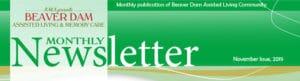 November newsletter Beaver Dam Assisted Living & Memory Care