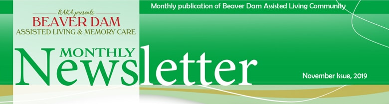 November newsletter Beaver Dam Assisted Living & Memory Care