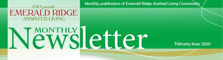 February Newsletter for Emerald Ridge Assisted Living